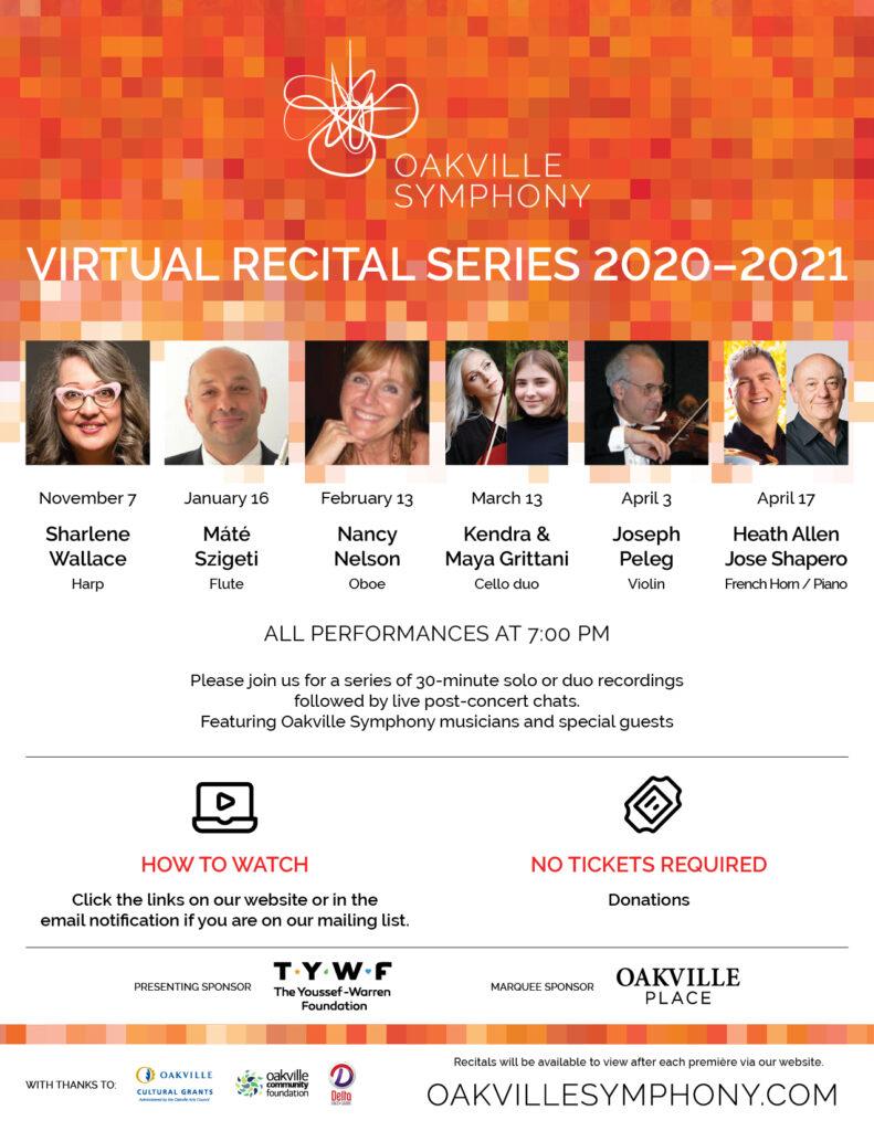 Virtual Recital Series poster